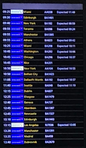 Almost half the flights not arriving as scheduled